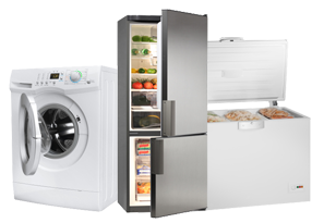 washing machine, refrigerator, and freezer