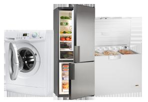 washing machine, refrigerator, and freezer